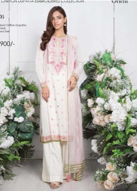 Orient Textile Embroidered Lawn Unstitched 3 Piece Suit OT20SS 076A - Spring / Summer Collection
