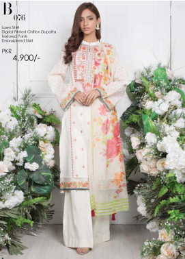 Orient Textile Embroidered Lawn Unstitched 3 Piece Suit OT20SS 076B - Spring / Summer Collection