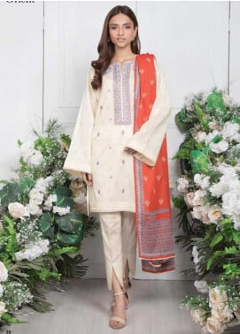 Orient Textile Embroidered Jacquard Unstitched 3 Piece Suit OT20SS 080A - Spring / Summer Collection