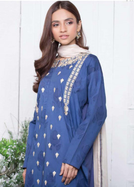 Orient Textile Embroidered Jacquard Unstitched 3 Piece Suit OT20SS 081B - Spring / Summer Collection