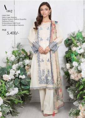 Orient Textile Embroidered Lawn Unstitched 3 Piece Suit OT20SS 082A - Spring / Summer Collection