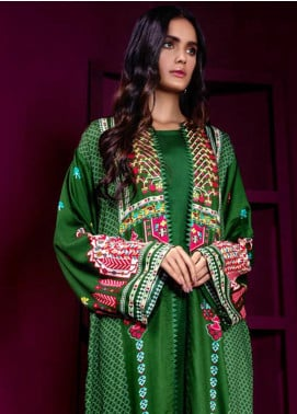 Orient Textile Embroidered Cottel Linen Unstitched Kurties OT19W 177 CARPET STORY A - Winter Collection