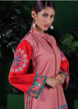 Orient Textile Embroidered Cotton Cotel Unstitched Kurties OT19-W2 152 A - Winter Collection