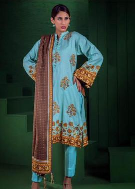 Orient Textile Embroidered Cotton Cotel Unstitched 3 Piece Suit OT19-W2 176 B - Winter Collection