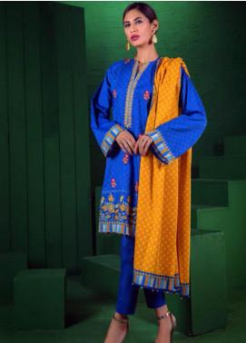 Orient Textile Embroidered Cotton Cotel Unstitched 3 Piece Suit OT19-W2 183 B - Winter Collection
