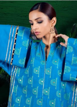 Orient Textile Embroidered Khaddar Unstitched Kurties OT19-W2 187 B - Winter Collection