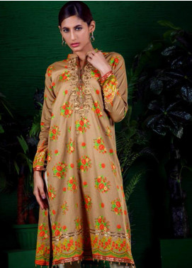 Orient Textile Embroidered Cotton Cotel Unstitched Kurties OT19-W2 194 A - Winter Collection