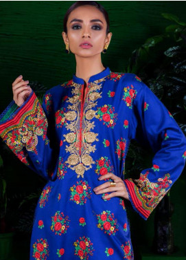 Orient Textile Embroidered Cotton Cotel Unstitched Kurties OT19-W2 194 B - Winter Collection