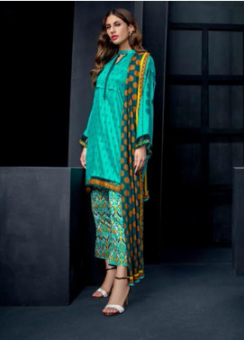 Orient Textile Embroidered Cottel Linen Unstitched 3 Piece Suit OT19-W2 203 A - Winter Collection