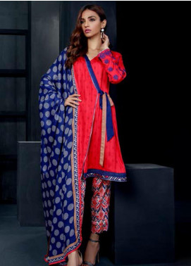 Orient Textile Embroidered Cottel Linen Unstitched 3 Piece Suit OT19-W2 203 B - Winter Collection
