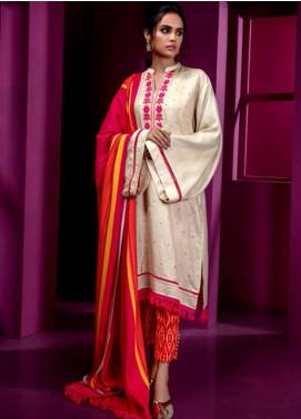 Orient Textile Embroidered Cottel Linen Unstitched 3 Piece Suit OT19-W2 205 A - Winter Collection