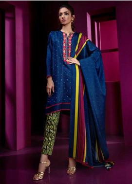 Orient Textile Embroidered Cottel Linen  Unstitched 3 Piece Suit OT19-W2 205 B - Winter Collection