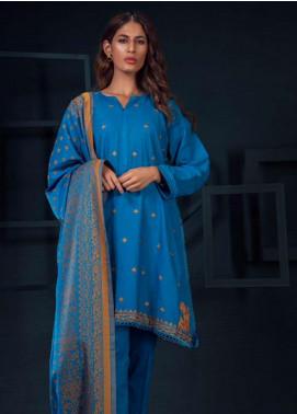 Orient Textile Embroidered Khaddar Unstitched 3 Piece Suit OT19-W2 206 B - Winter Collection