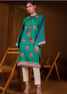 Orient Textile Embroidered Cotton Cotel Unstitched Kurties OT19-W2 210 A - Winter Collection