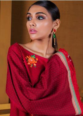 Orient Textile Embroidered Cotton Cotel Unstitched Kurties OT19-W2 210 B - Winter Collection