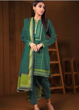 Orient Textile Embroidered Khaddar Unstitched 3 Piece Suit OT19-W2 212 A - Winter Collection