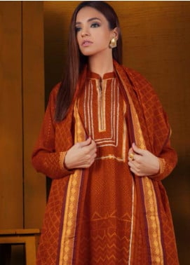Orient Textile Embroidered Khaddar Unstitched 3 Piece Suit OT19-W2 212 B - Winter Collection