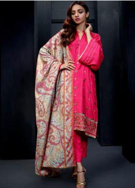 Orient Textile Embroidered Linen Unstitched 3 Piece Suit OT19-W2 217 - Winter Collection