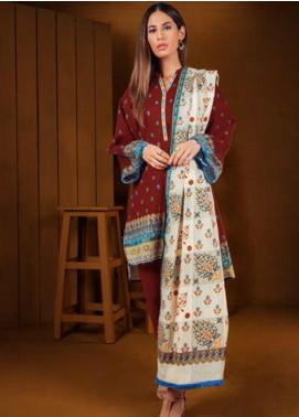 Orient Textile Printed Cotton Cotel Unstitched 3 Piece Suit OT19-W2 220 B - Winter Collection