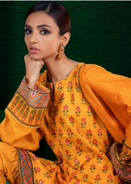 Orient Textile Embroidered Khaddar Unstitched 3 Piece Suit OT19-W2 225 B - Winter Collection