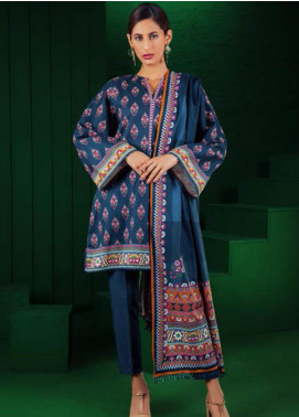 Orient Textile Printed Cotton Cotel Unstitched 3 Piece Suit OT19-W2 226 B - Winter Collection