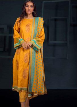 Orient Textile Embroidered Khaddar Unstitched 3 Piece Suit OT19-W2 236 A - Winter Collection