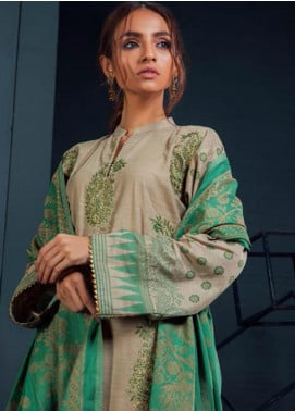 Orient Textile Embroidered Khaddar Unstitched 3 Piece Suit OT19-W2 236 B - Winter Collection
