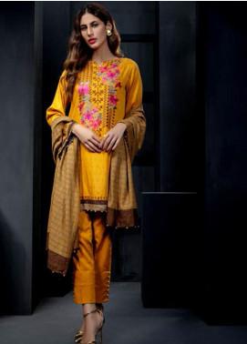 Orient Textile Embroidered Cottel Linen Unstitched 3 Piece Suit OT19-W2 244 A - Winter Collection
