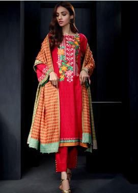 Orient Textile Embroidered Cottel Linen Unstitched 3 Piece Suit OT19-W2 244 B - Winter Collection
