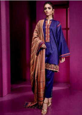Orient Textile Embroidered Cottel Linen Unstitched 3 Piece Suit OT19-W2 246 A - Winter Collection