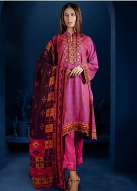 Orient Textile Embroidered Cottel Linen Unstitched 3 Piece Suit OT19-W2 247 A - Winter Collection