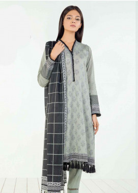 Orient Textile Printed Lawn Unstitched 3 Piece Suit OT19BW 120 - Black & White Collection