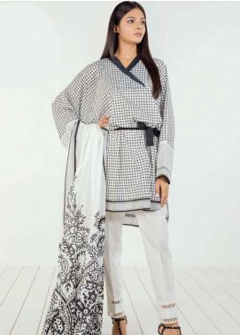Orient Textile Printed Lawn Unstitched 3 Piece Suit OT19BW 121 - Black & White Collection