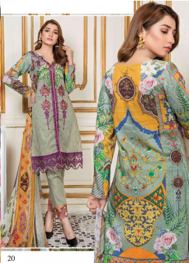 Oriental by Master Fabrics Embroidered Chikankari Lawn Unstitched 3 Piece Suit MFO20 20114 - Spring / Summer Collection