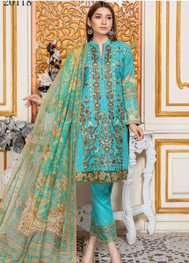 Oriental by Master Fabrics Embroidered Chikankari Lawn Unstitched 3 Piece Suit MFO20 20118 - Spring / Summer Collection