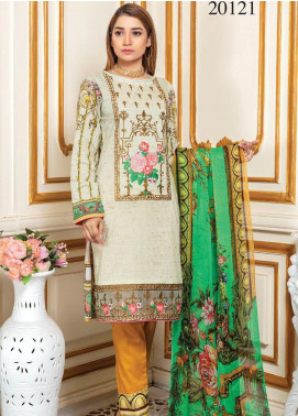 Oriental by Master Fabrics Embroidered Chikankari Lawn Unstitched 3 Piece Suit MFO20 20121 - Spring / Summer Collection