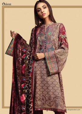 Orient Textile Embroidered Cottel Linen Unstitched 3 Piece Suit OT17W2 136A