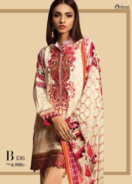 Orient Textile Embroidered Cottel Linen Unstitched 3 Piece Suit OT17W2 136B