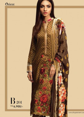 Orient Textile Embroidered Cottel Linen Unstitched 3 Piece Suit OT17W2 201B