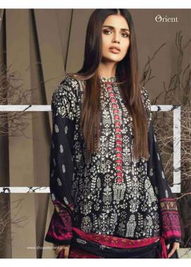 Orient Textile Embroidered Cottle Linen Unstitched 3 Piece Suit OT17W 141A