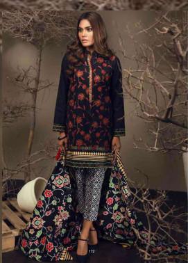 Orient Textile Embroidered Cottle Linen Unstitched 3 Piece Suit OT17W 159B