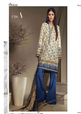 Orient Textile Embroidered Cottle Linen Unstitched 3 Piece Suit OT17W 196A
