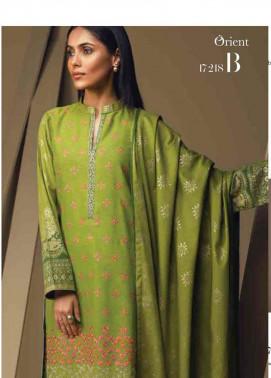 Orient Textile Embroidered Cottle Linen Unstitched 3 Piece Suit OT17W 218B