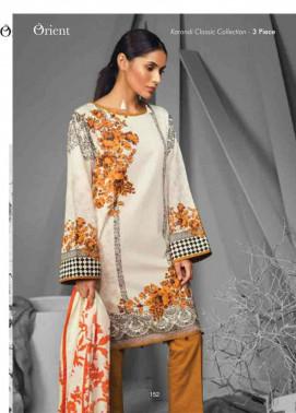 Orient Textile Embroidered Cottle Linen Unstitched 3 Piece Suit OT17W 232B