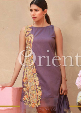 Orient Textile Embroidered Chambray Unstitched 3 Piece Suit OT18-L2 153A - Summer Collection