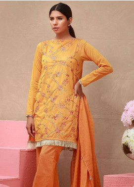 Orient Textile Embroidered Chambray Unstitched 3 Piece Suit OT18-L2 154B - Summer Collection