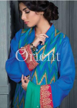 Orient Textile Embroidered Cotta Fabric Unstitched 3 Piece Suit OT18E 172A - Formal Collection