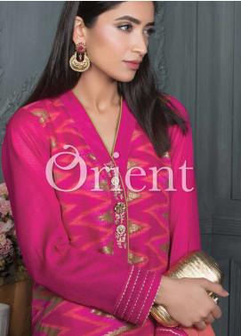 Orient Textile Embroidered Cotta Fabric Unstitched 3 Piece Suit OT18E 172B - Formal Collection