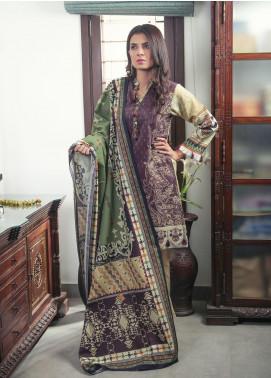 Oture Printed Khaddar Stitched 3 Piece Suit OD3W2191059 Maroon