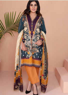 Oture Printed Lawn Stitched 3 Piece Suit OD3S200001